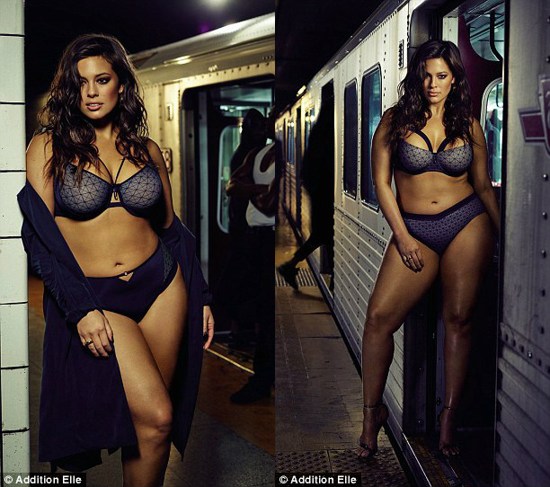 Mẫu béo Mỹ mặc nội y gợi cảm trên tàu điện ngầm