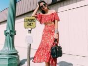 Thời trang - Cách mặc áo trễ vai khiến bạn trở thành tâm điểm