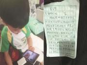 Bạn trẻ - Cuộc sống - Cậu bé viết thư xin lỗi mẹ vì ủng hộ bạn số tiền gấp đôi