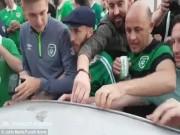 Bóng đá - Ăn mừng quá tay làm hỏng ô tô người Pháp, CĐV Ireland nhét tiền...đền
