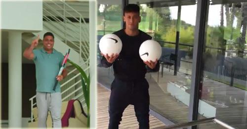 """Ro """"béo"""" và Neymar gây sốt với màn đọ tài cực dị"""
