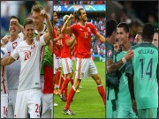 """Bóng đá - Ảnh đẹp Euro 25/6: Ronaldo """"hẹn hò"""" Lewandowski"""