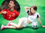 Ca nhạc - MTV - Vợ cũ Hồ Quang Hiếu sexy cổ vũ đội tuyển của Ronaldo