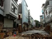 Tin tức trong ngày - Dãy phố nhà siêu mỏng mọc lên dọc bờ mương ở Hà Nội