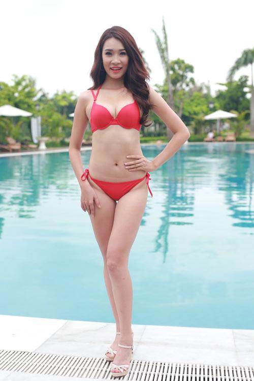 Thí sinh Hoa hậu Bản sắc Việt khoe dáng với bikini - 8