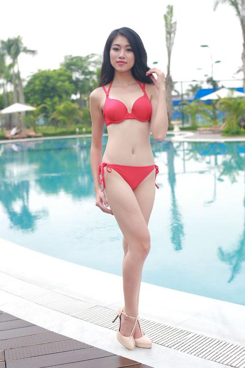Thí sinh Hoa hậu Bản sắc Việt khoe dáng với bikini - 6