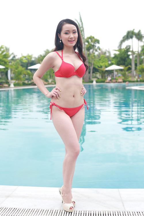 Thí sinh Hoa hậu Bản sắc Việt khoe dáng với bikini - 13