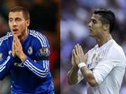 """Nếu Hazard tới Real:  """" Địch thủ """"  hay  """" trợ thủ """"  của Ronaldo"""