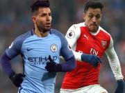 """Arsenal đấu Man City: So tài  """" thượng đỉnh """"  Sanchez  & amp; Aguero"""