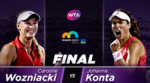 Konta - Wozniacki: Giật cúp lịch sử (CK đơn nữ Miami)