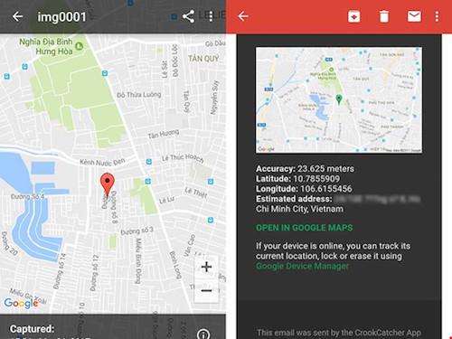 Cách chụp ảnh và xác định vị trí kẻ trộm smartphone - 1