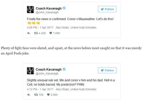 Tin thể thao 3/4: Mayweather – McGregor nóng vì Cá tháng 4