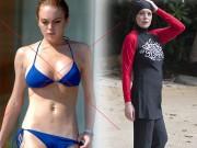 Đồ lót - đồ bơi - U30 Lindsay Lohan già như 50 vì mặc bikini người Hồi
