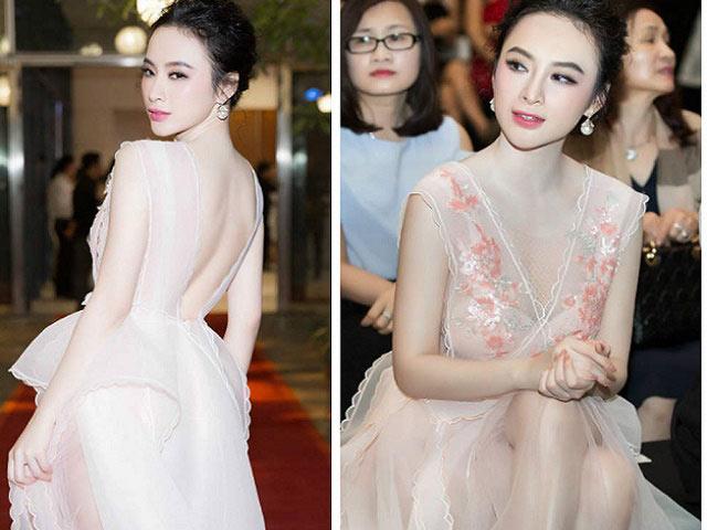 Angela Phương Trinh tái xuất xôn xao với váy thấu da