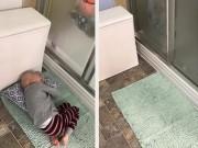 Bạn trẻ - Cuộc sống - Nghẹn lòng cậu bé ung thư nằm trên thảm chùi chân chờ mẹ tắm