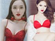 """Thời trang - Hương Giang Idol diện đầm đỏ khoét sâu khoe da trắng sứ """"đốt mắt"""""""