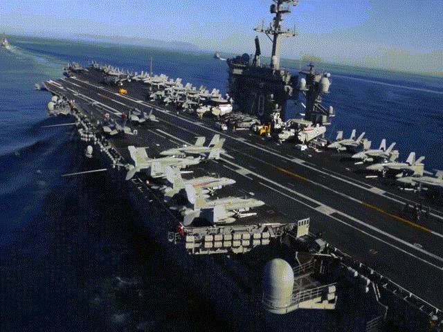 Sức mạnh siêu tàu sân bay Mỹ điều đi