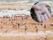 Sau tin đồn, dân bỏ đồng ra sông tìm đá quý