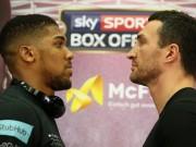 """Đại chiến boxing Klitschko- Joshua: Sư tử leo  """" Đỉnh Everest """""""