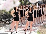 Bạn trẻ - Cuộc sống - Nữ sinh Hàn khoe chân dài miên man dưới tán hoa anh đào