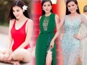 """Kiều nữ Việt  """" ê chề """"  vì váy xẻ quá khứ còn mặc  """" bạo """"  hơn"""