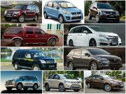 """10 mẫu ô tô  """" ế """"  nhất Việt Nam tháng 3/2017"""