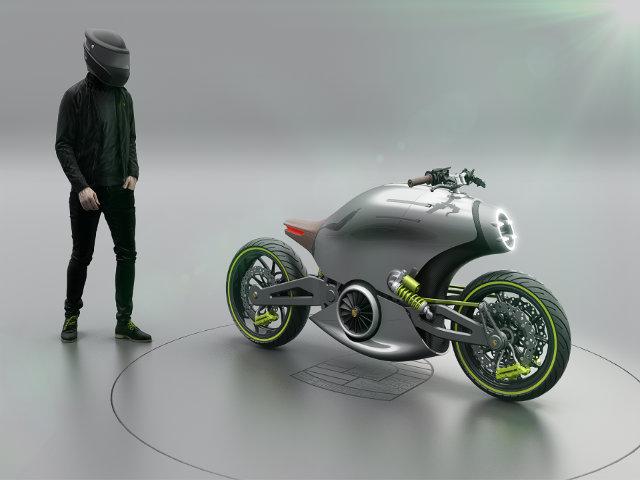 Hình dung trước siêu môtô của Porsche
