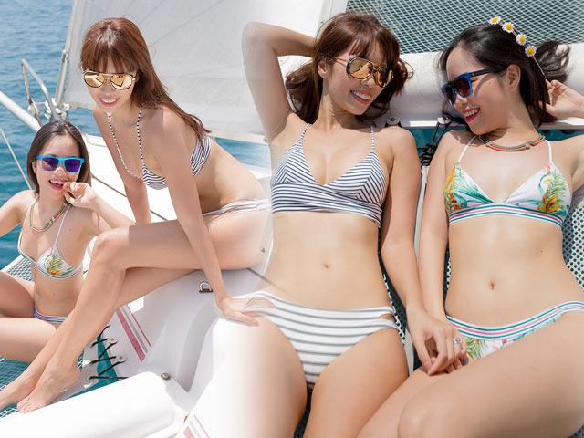 Em Gái Hà Anh Mặc Bikini Bé Xíu đẹp át Chị Trên Du Thuyền