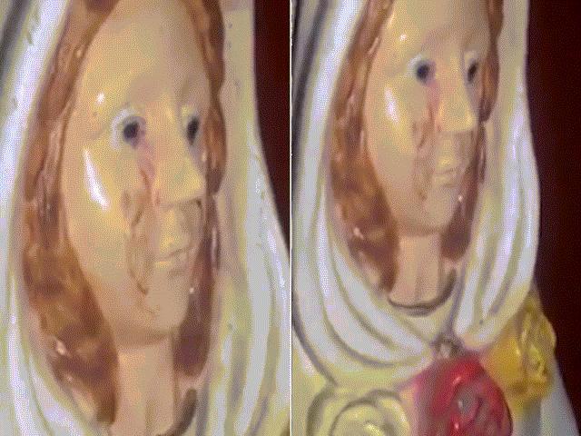 """Bí ẩn tượng Đức mẹ Maria """"khóc ra máu"""" ở Argentina"""