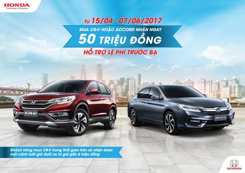 Honda Việt Nam khuyến mãi hấp dẫn cho Honda CR-V và Honda Accord - 3