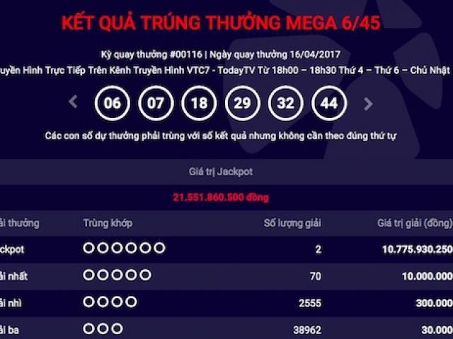 Kỷ lục vé trúng jackpot chứa nhiều bộ số nhất của Vietlott