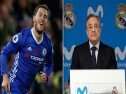 """Hazard  tắt điện  trận MU: Real mua 120 triệu bảng có sợ  """" lỗ """" ?"""