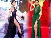"""Váy xẻ đến tận hông của Hà Anh  """" đốt mắt """"  nhất tuần qua"""