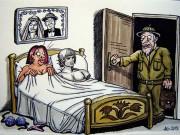 """"""" Bức tượng """"  tội nghiệp trong phòng ngủ"""