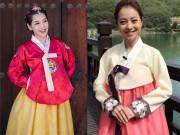"""Gái Hàn Hari Won  """" lép vế """"  màn diện Hanbok của Mi Du, Huyền Baby"""