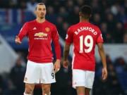 """MU: Rashford  """" bung lụa """" , Mourinho lại dùng Ibrahimovic"""