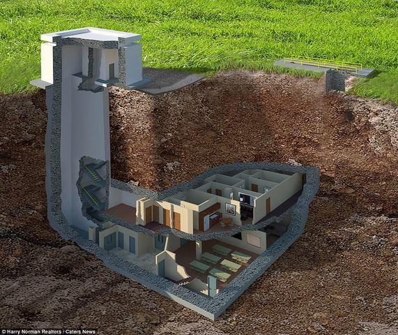 Hầm tránh bom hạt nhân 400 tỉ siêu sang ở Mỹ - ảnh 1