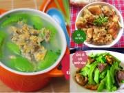 Ẩm thực - Bữa cơm ngon có vịt giả cầy, canh ngao mướp