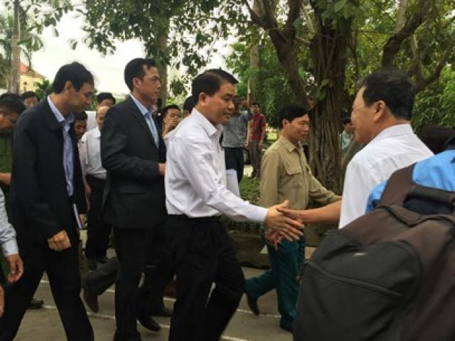 Chủ tịch Hà Nội đối thoại với dân Đồng Tâm
