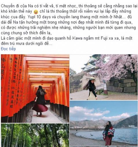 Cô gái Đà Nẵng đi du lịch Nhật Bản 10 ngày hết 40 triệu đồng - 1