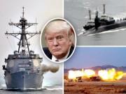 Tàu chiến 3 nước vây quanh Triều Tiên bằng  vành đai lửa