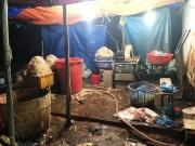 Hãi hùng phát hiện hàng trăm kg bắp chuối bào ngâm  chất độc  ở Sài Gòn