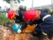 TP.HCM: Truy tìm  thủ phạm  vứt 2 bình thép nghi chứa khí lỏng cực độc