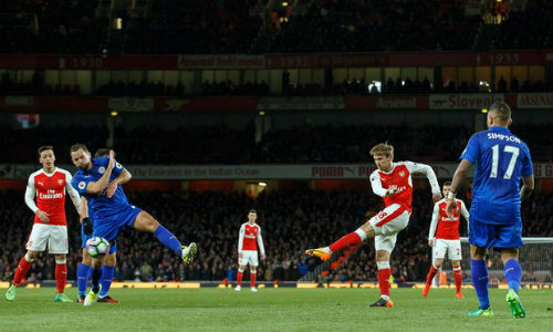 Arsenal - Leicester City: Siêu kịch tính tới phút 90+7 - 1