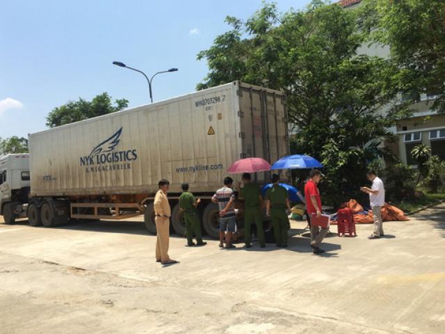 Container tông chết người ở Phú Thọ đã bị bắt ở Quảng Nam