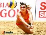 """Thể thao - """"Bóng hồng"""" châu Á khoe dáng chuẩn tại giải bóng chuyền bãi biển"""
