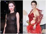 """Đông Nhi, Pha Lê sexy  """" bất thành """" , lọt top  """" thảm họa """"  tháng 4"""