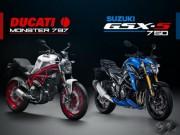 """Thế giới xe - Suzuki GSX-S750 """"ăn thịt"""" đối thủ Ducati Monster 797?"""