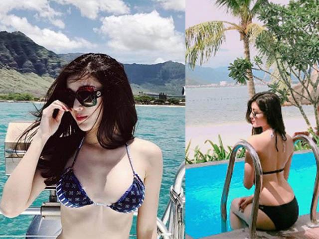 """Hiếm hoi lắm mới thấy Huyền My diện bikini """"bốc lửa"""" thế"""
