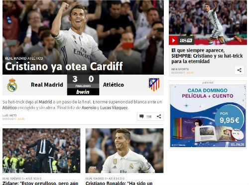 """Báo chí thế giới """"cạn lời"""", tôn Ronaldo lên hàng Thánh"""